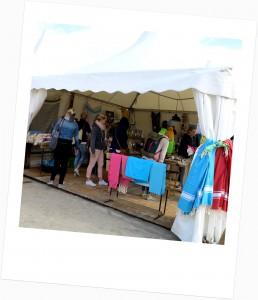 Zahlreiche Shops beim Kitesurf WorldCup in St Peter Ording