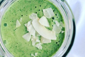 Kokos-Spinat Smoothie