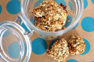 Low Carb Kekse Rezept mit Haferflocken und Bananen