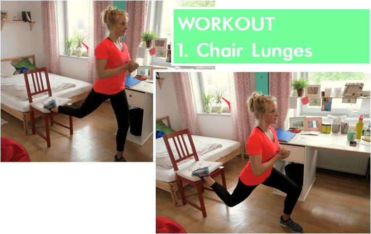 Home Workout - Chair Lunges