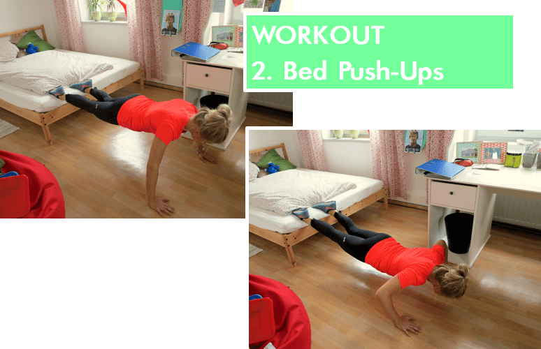 Home Workout - Bed Push-Ups
