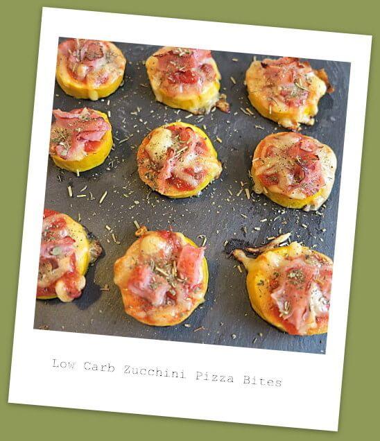 Low Carb Pizza Bites mit würziger Tomatensauce und zartem Kochschinken
