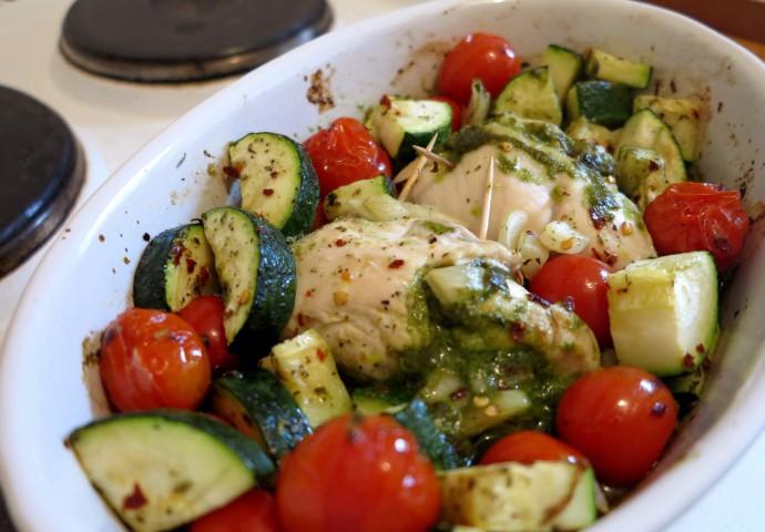 Pesto-Chicken | Low Carb Rezept
