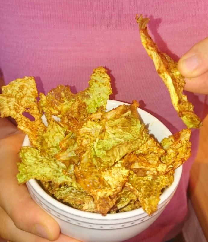 Knackige, würzige Wirsing Chips