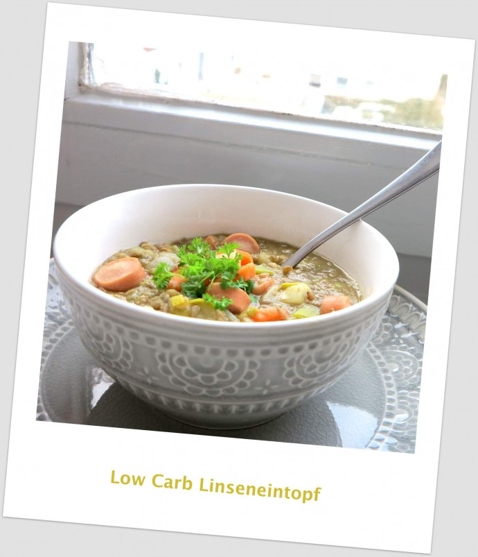 Rezept Linseneintopf Low Carb mit knackigen Wiener Würstchen