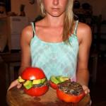 Low Carb Tomaten Burger