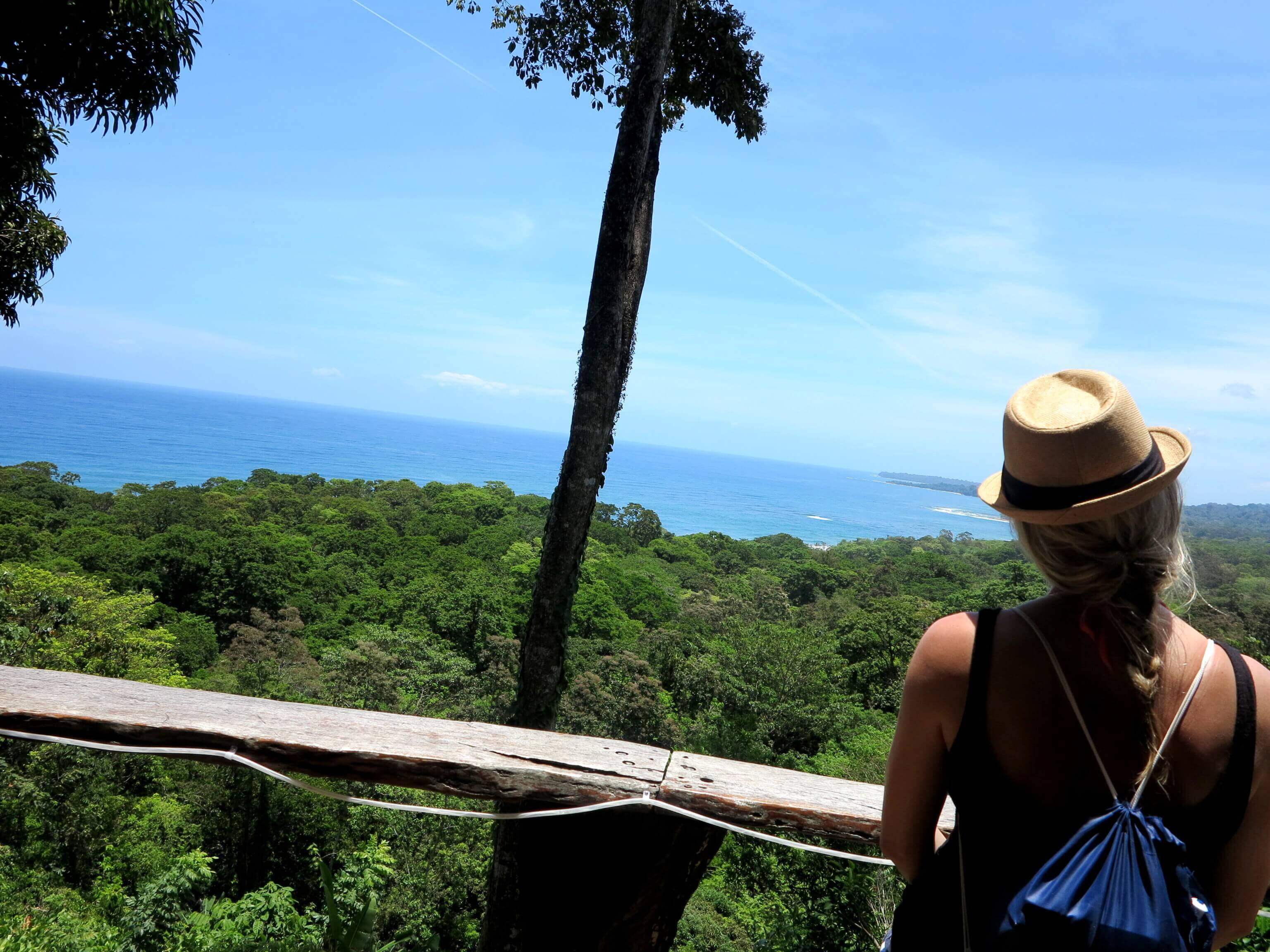 Bei dieser Aussicht testet man doch gerne Costa Rica Schokolade