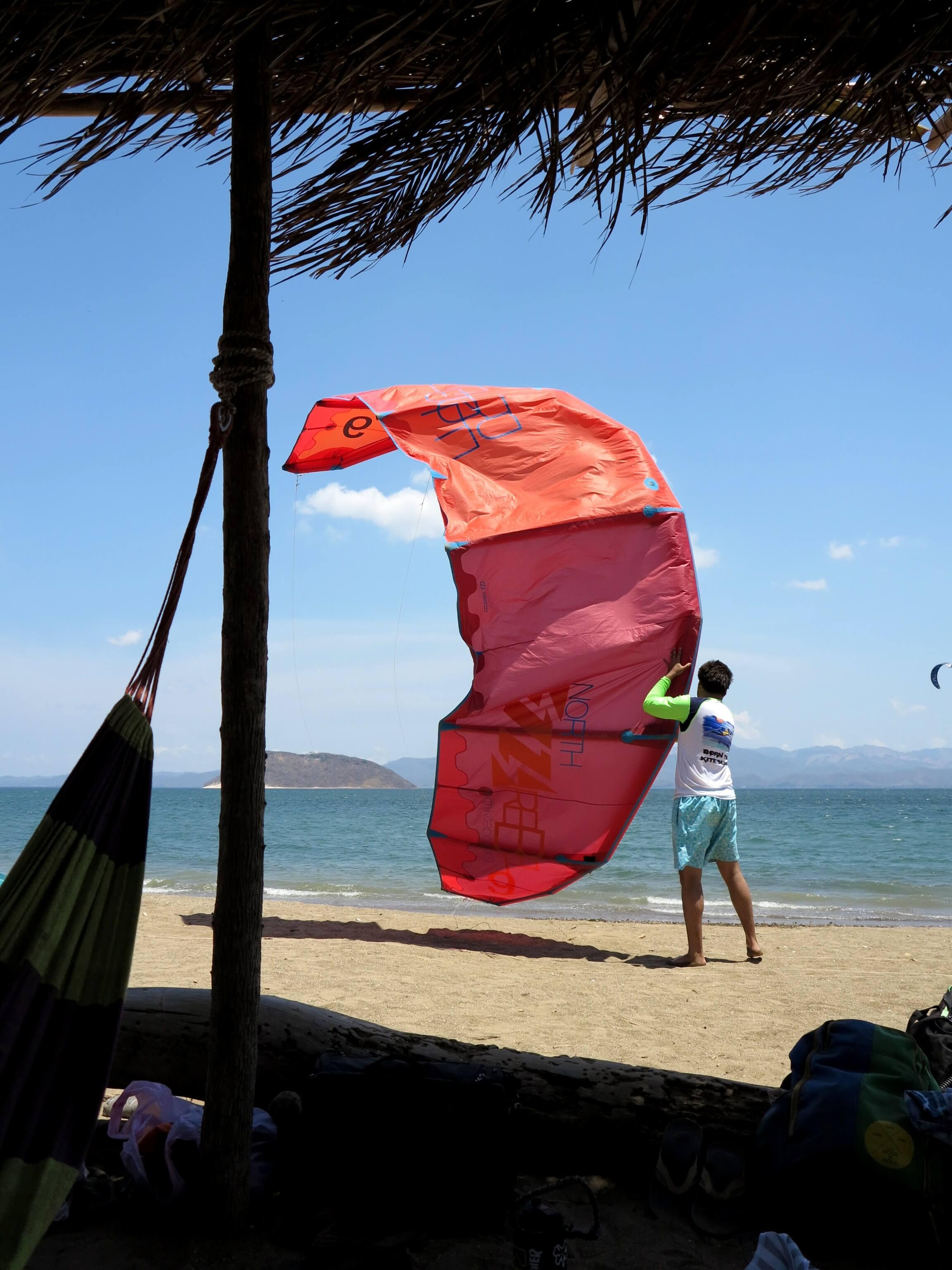 Da können selbst Anfänger schon im Einsatz sein - Starten und Landen des Kites