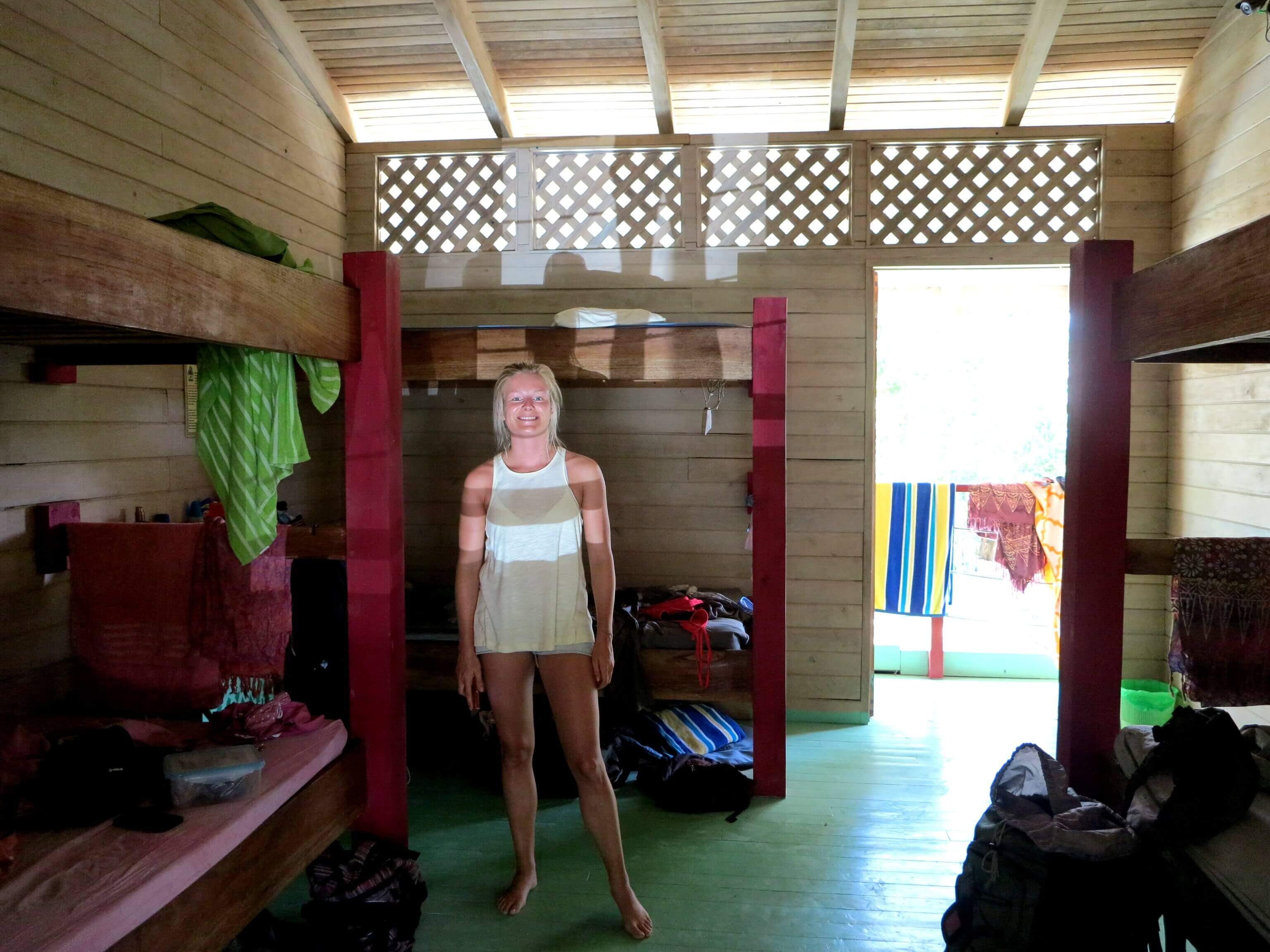 Mehrbettzimmel im Hostel Wavetrotters in Santa Teresa