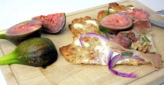 Flammkuchen mit Feigen - Low Carb Rezept