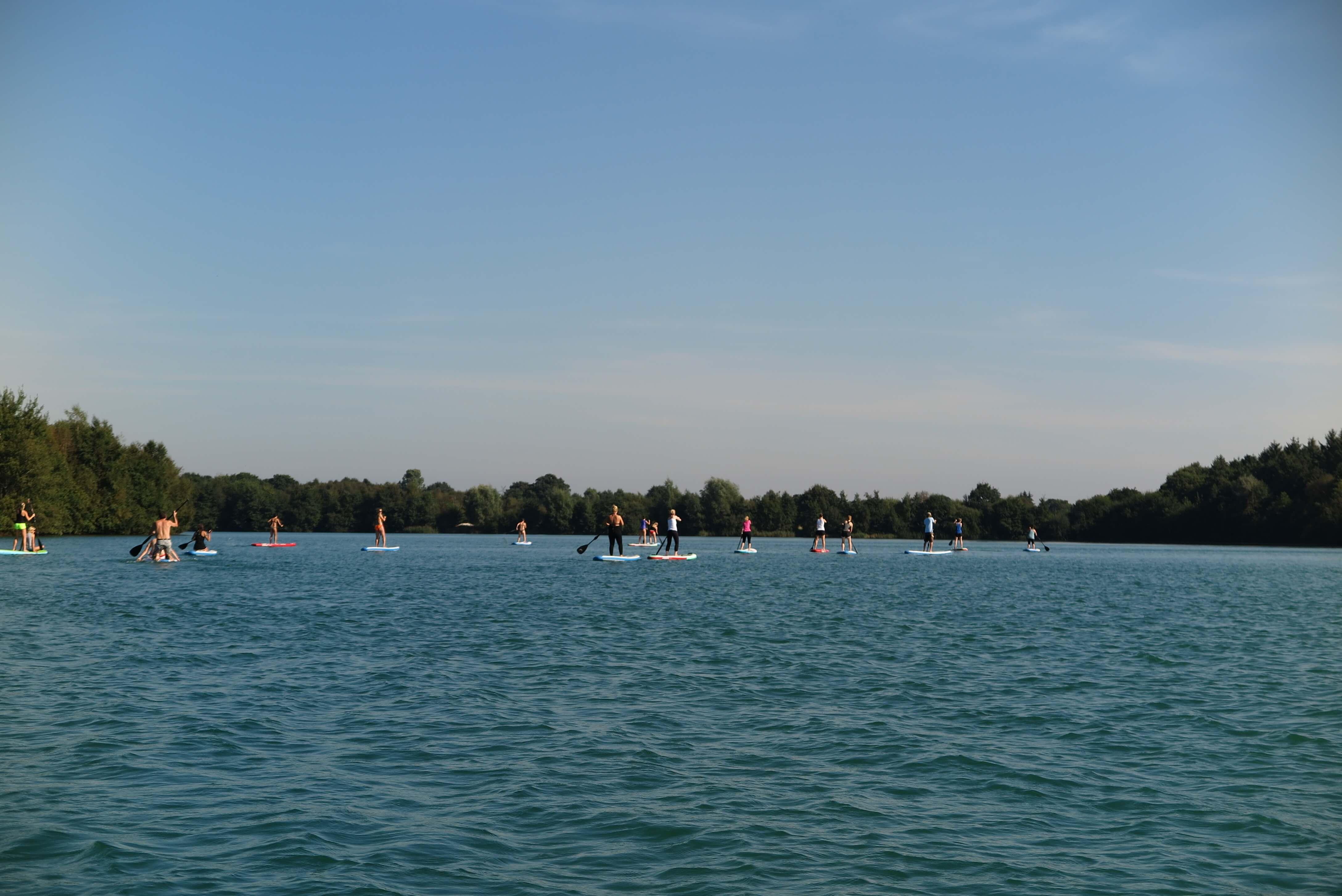 SUP-Tour über den Nethener See