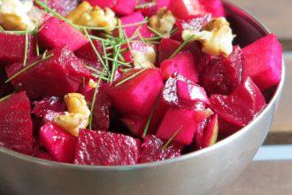 Rote Beete Apfel Salat - Low Carb Rezept
