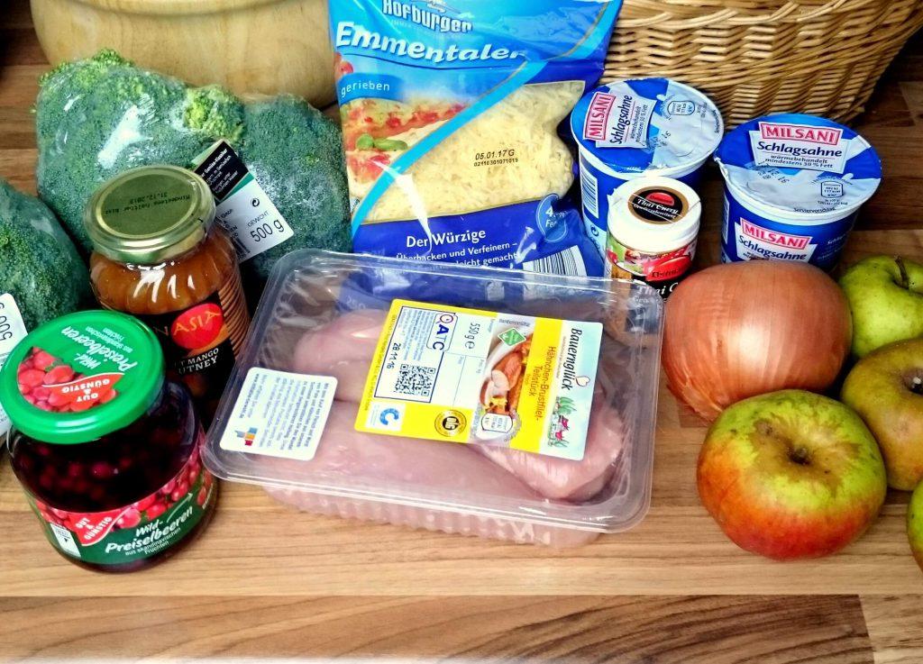 Zutaten für Low Carb Hähnchen Curry