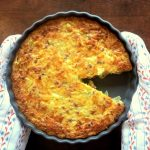Low Carb Zwiebelkuchen mit Kichererbsen Mehl