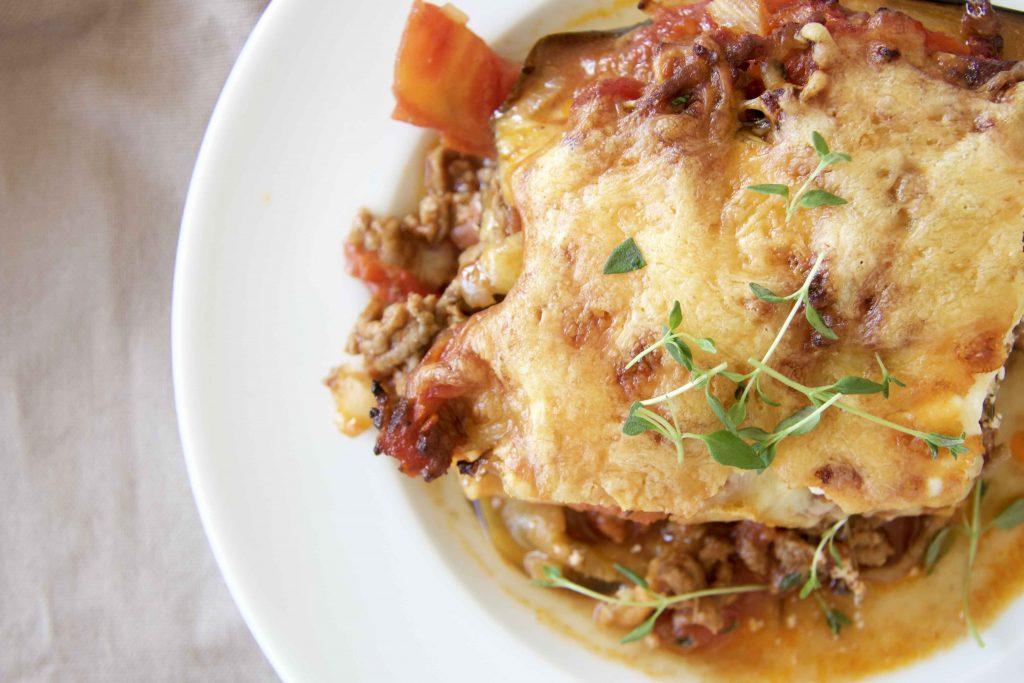 Low Carb Auberginen Lasagne