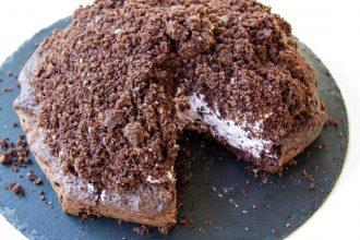 Saftiger Low Carb Maulwurfkuchen mit gesunder Beerenmischung