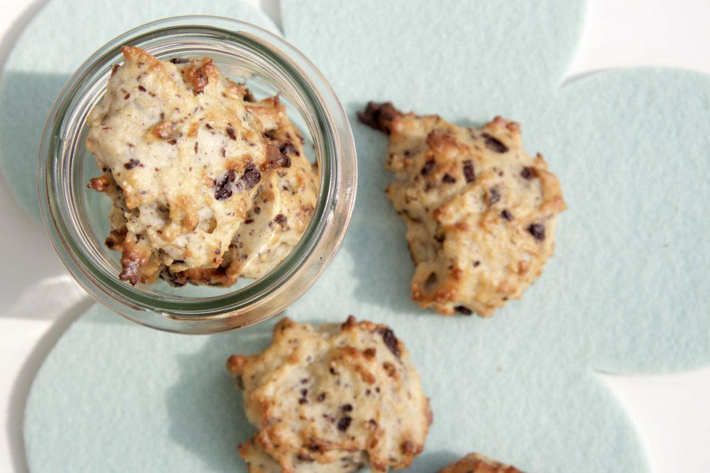 Low Carb Bananen-Schoko-Cookies