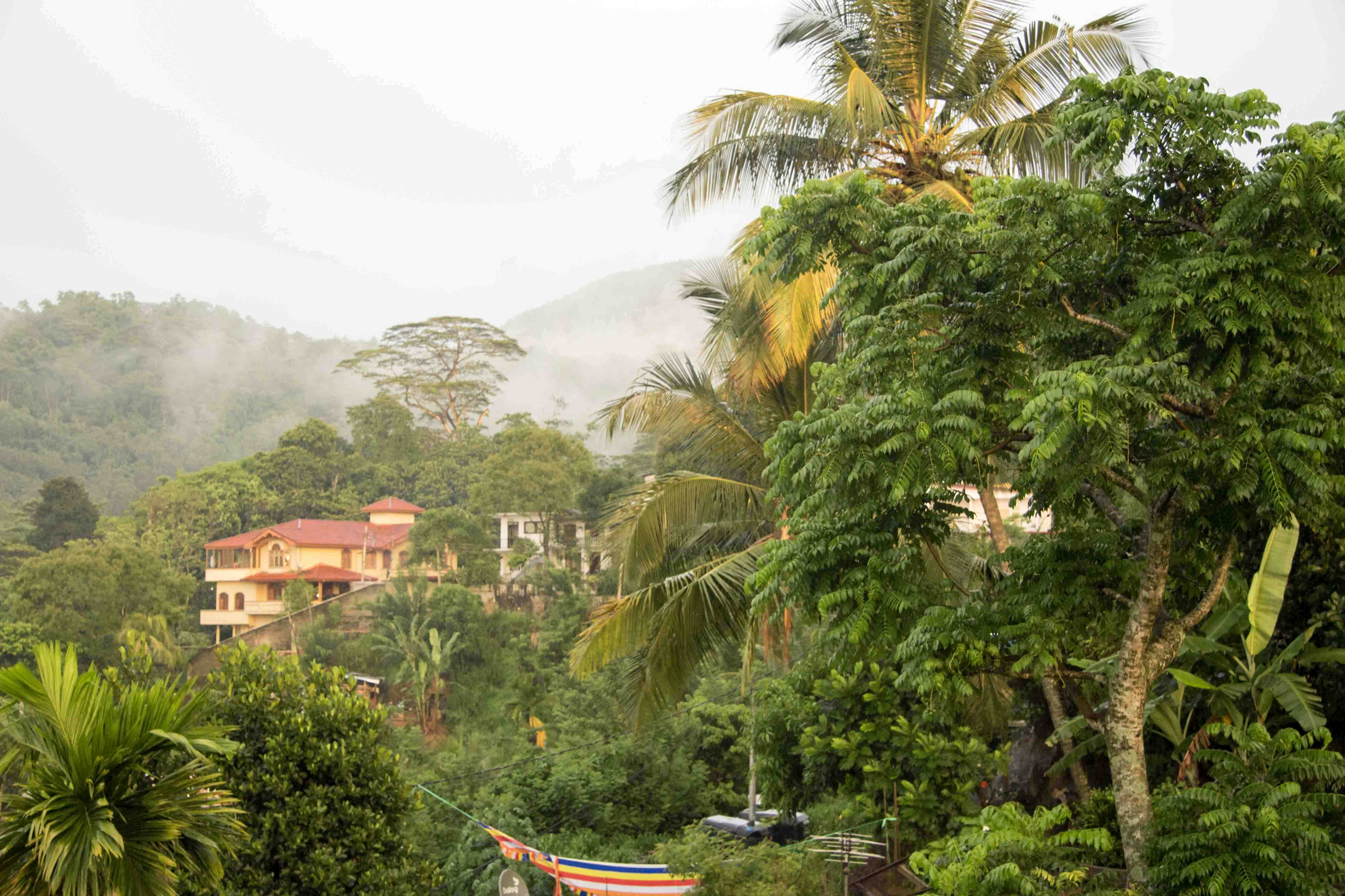 Ausblick Unterkunft Kandy