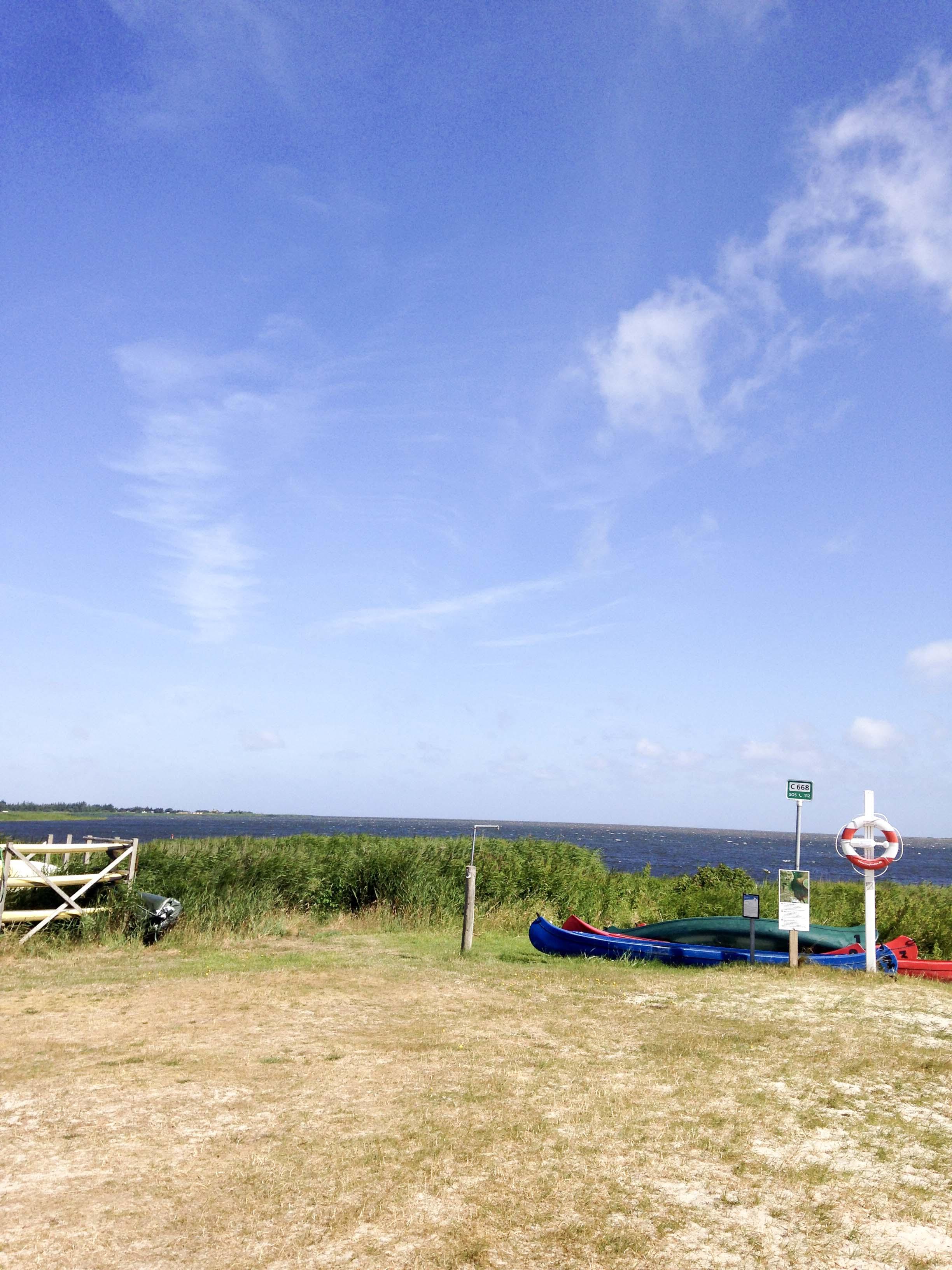 Kitespot am Campingplatz Bjerregård