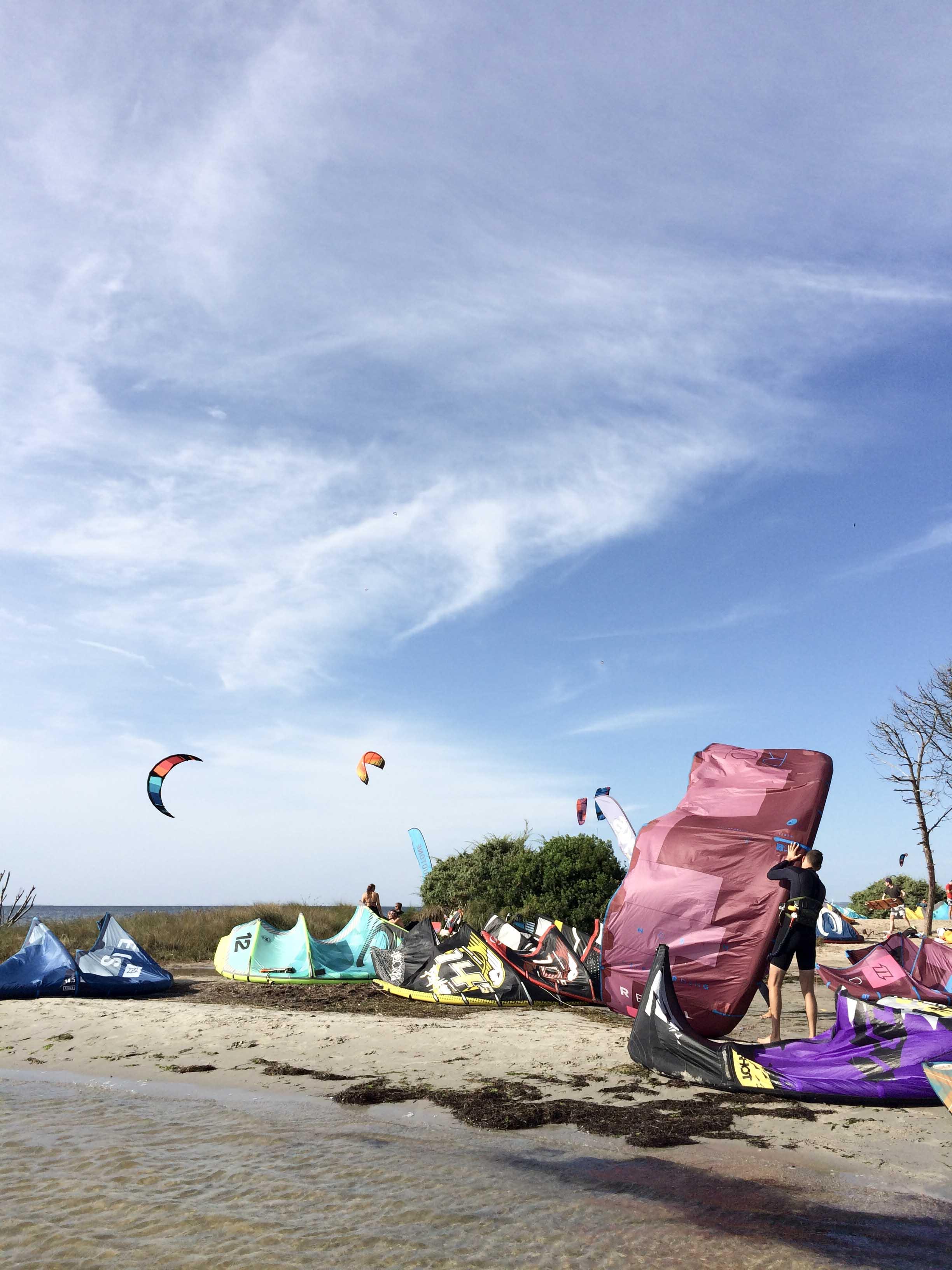 Gestartet wurde im Wasser - Kitespot Punta Trettu