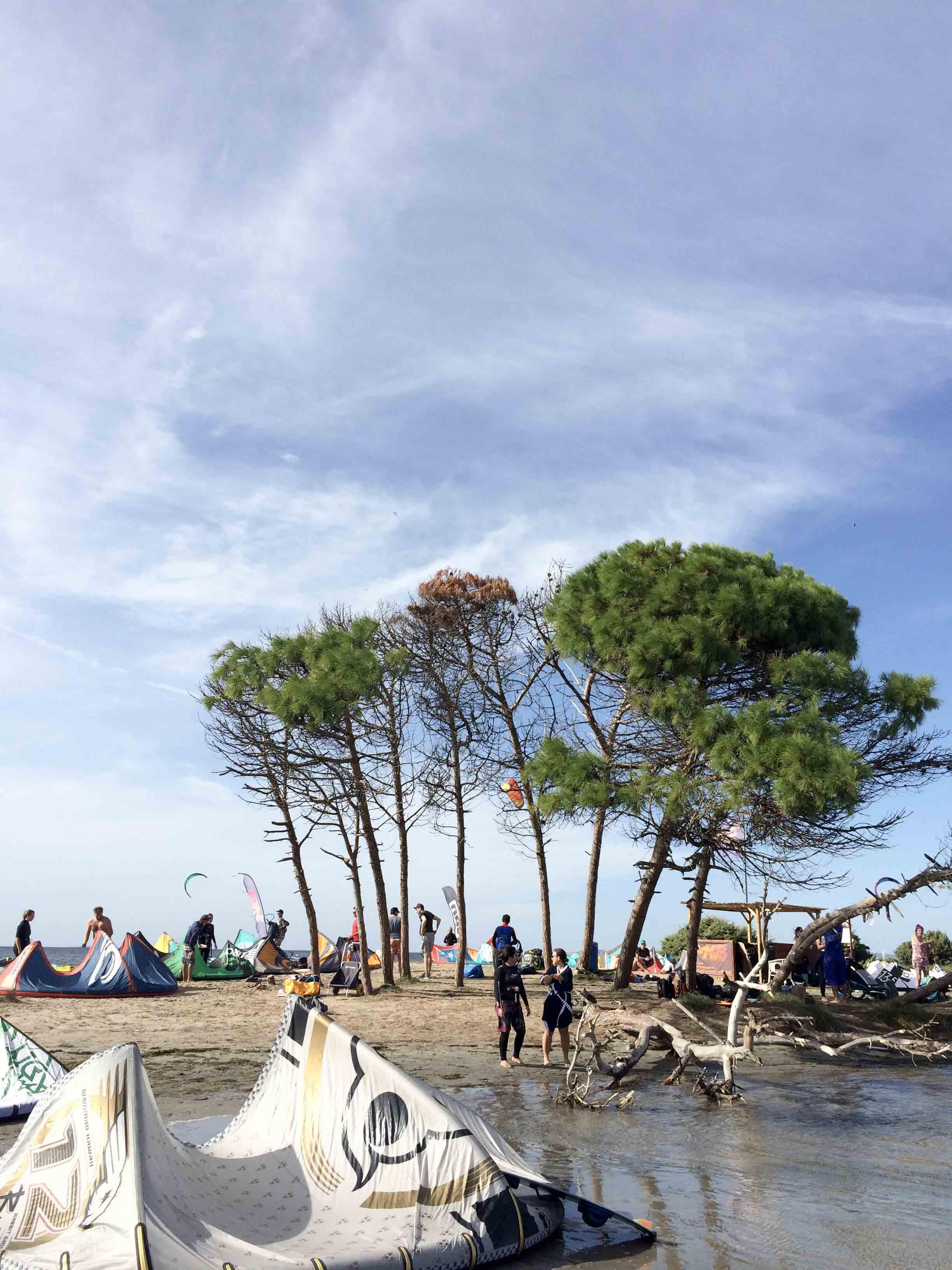 Kitespot Punta Trettu im Süden von Sardinien