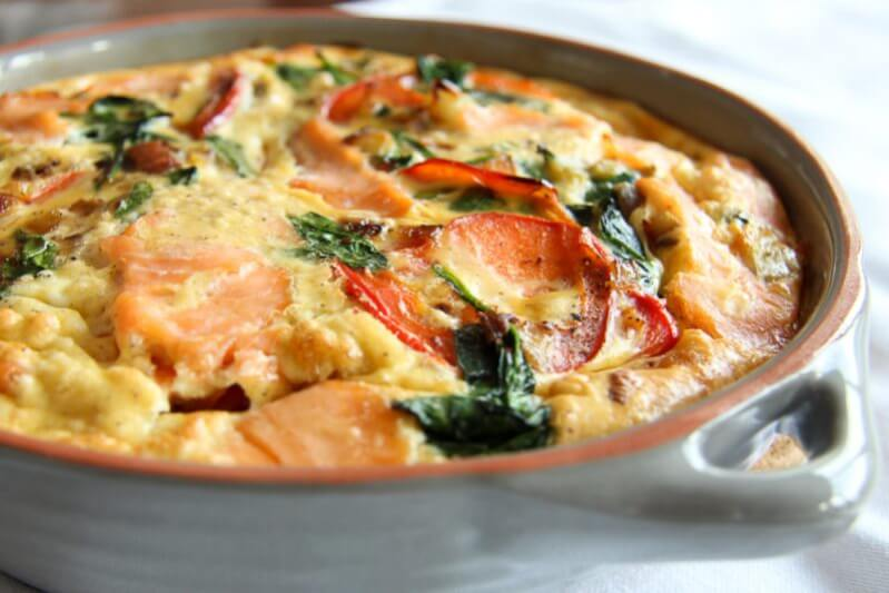 Lachs-Spinat-Frittata