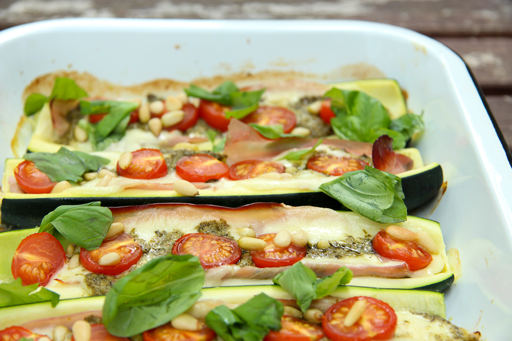 Gefüllte Zucchini Low Carb