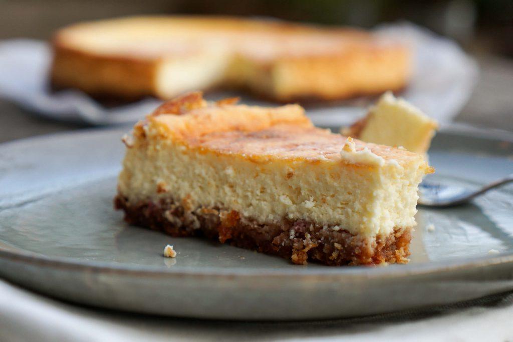 Cremiger Käsekuchen ohne Zucker