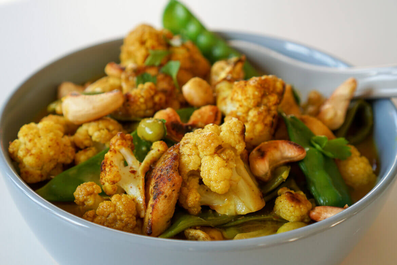 Blumenkohl-Curry Low Carb Rezept